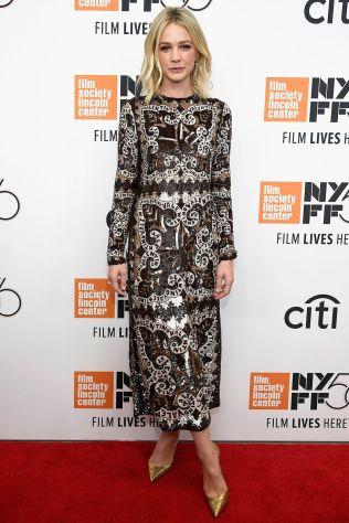 Carey Mulligan in Valentino alla premiere of WildlifeNY