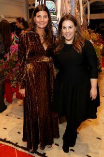 Giovanna Battaglia e Mary Katrantzou al Mary Katrantzou x Matches Fashion event, London.
