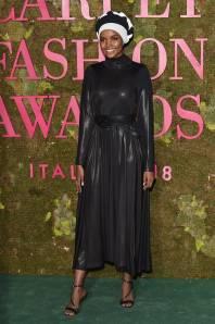 Halima Aden ai Green Carpet Fashion Awards, Milan Fashion Week