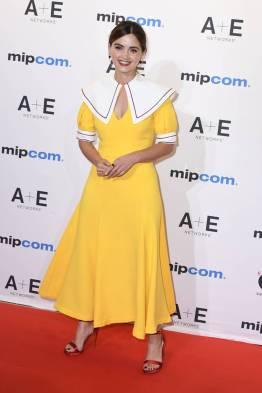 Jenna Coleman in Emilia Wickstead al MIPCOM, Cannes