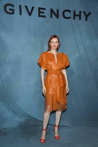 Karen Elson in Givenchy al Givenchy show, Paris Fashion Week