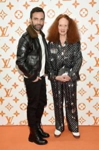 Nicolas Ghesquiere e Grace Coddington, in Louis Vuitton, al Louis Vuitton X Grace Coddington Celebration, New York