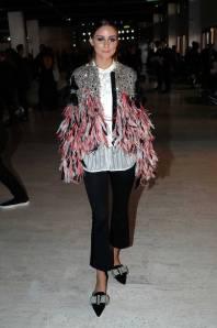 Olivia Palermo al Giambattista Valli show, Paris Fashion Week