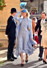 Poppy Delevingne al matrimonio della Principessa Eugenia di York, Windsor