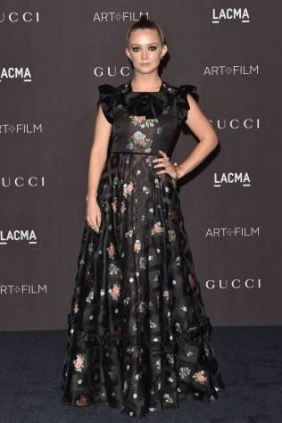 Billie Lourde in Gucci al LACMA Art + Film Gala, Los Angeles
