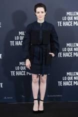 Claire Foy in Rosetta Getty alla 'Millennium' Premiere, Madrid