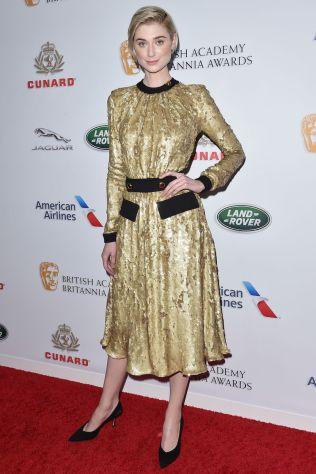 Elizabeth Debicki in Prada ai British Academy Britannia Awards