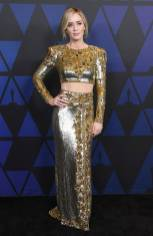 Emily Blunt in Dundas ai The Governors Awards, Hollywood
