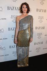 Gemma Arterton in Michael Kors e gioielli Tiffany & Co. ai Harper's Bazaar Women of the Year Awards 2018