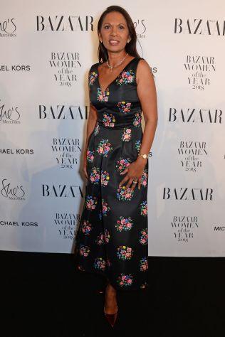 Gina Miller in Emilia Wickstead ai Harper's Bazaar Women of the Year Awards 2018