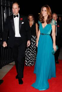 Il Duca e La Duchessa di Cambridge, in Jenny Packham, ai The Tusk Conservation Awards, London