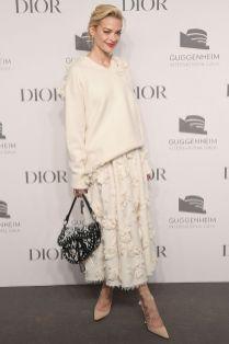 Jaime King in Dior al Guggenheim International Gala pre-party, New York