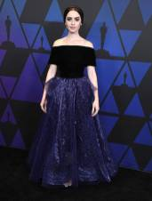Lily Collins in George Chakra ai The Governors Awards, Hollywood