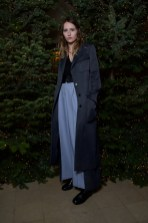 Christa Theret in Burberry at an event hosted by Kristin Scott Thomas to celebrate Christmas in Paris