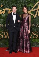 Erdem Moralioglu in Lanvin e Alison Loehnis in Erdem ai Fashion Awards 2018, London