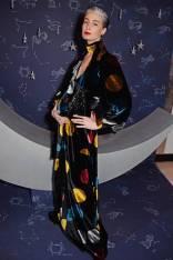 Erin O'Connor al Diane Von Furstenberg & Edward Enninful Host A Zodiac Party To Celebrate The Claridges 'Tree of Love', London