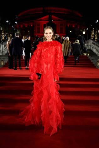 Fran Summers in Valentino ai Fashion Awards 2018, London