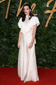 Jenna Coleman in Preen by Thornton Bragazzi ai Fashion Awards 2018, London
