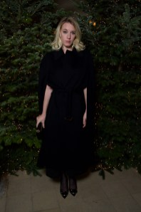 Ludivine Sagnier in Burberry at an event hosted by Kristin Scott Thomas to celebrate Christmas in Paris