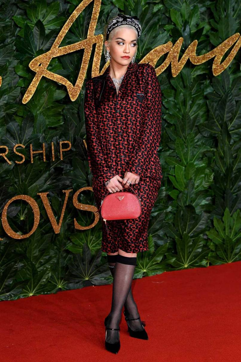 Rita Ora in Prada ai Fashion Awards 2018, London