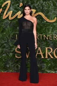 Sara Sampaio in David Koma ai Fashion Awards 2018, London