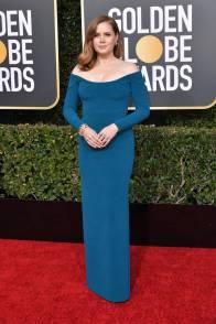 Amy Adams in Calvin Klein ai Golden Globes 2019