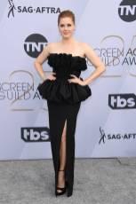 Amy Adams in Celine by Hedi Slimane e gioielli Cartier ai SAG Awards 2019