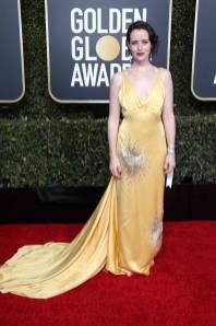 Claire Foy in Miu Miu ai Golden Globes 2019