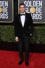 Dave Franco in Saint Laurent ai Golden Globes 2019