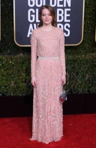 Emma Stone in Louis Vuitton ai Golden Globes 2019