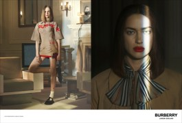 Fran Summers and Irina Shayk photographed by Danko Steiner for Burberry c Courtesy of Burberry _ Danko Steiner