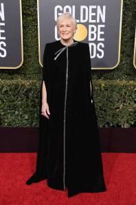 Glenn Close in Armani Privè ai Golden Globes 2019