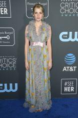 Lucy Boynton in Gucci ai 2019 Critics' Choice Awards