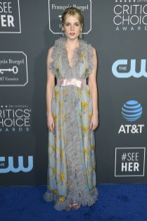 Lucy Boynton in Gucci ai 2019 Critics' Choice Awards