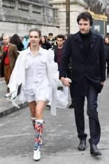 Natalia Vodianova e Antoine Arnault al Louis Vuitton Show Arrivals, Paris -