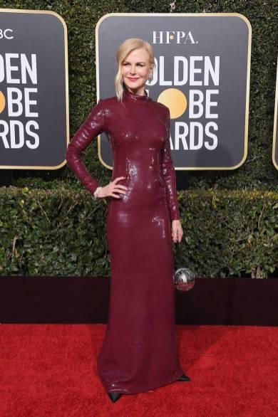 Nicole Kidman in Michael Kors ai Golden Globes 2019