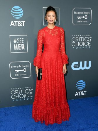 Nina Dobrev ai 2019 Critics' Choice Awards