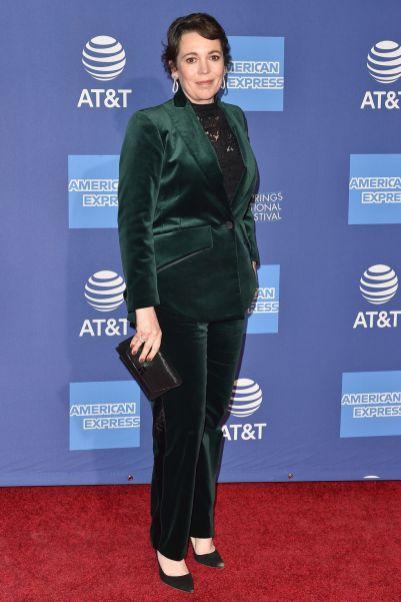 Olivia Colman con gioielli Chopard al Palm Springs International Film Gala