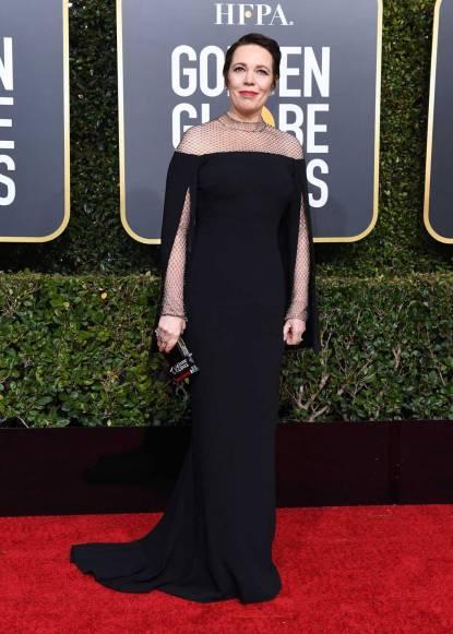 Olivia Colman in Stella McCartney ai Golden Globes 2019