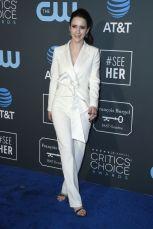 Rachel Brosnahan in Nikos Loulis ai 2019 Critics' Choice Awards
