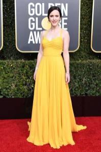 Rachel Brosnahan in Prada ai Golden Globes 2019