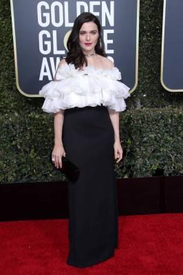 Rachel Weisz in Celine By Hedi Slimane ai Golden Globes 2019