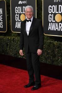 Richard Gere in Giorgio Armani ai Golden Globes 2019