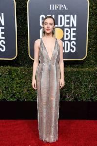 Saoirse Ronan in Gucci ai Golden Globes 2019