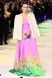Sarah Paulson in Prada alla premiere of Glass, London