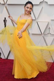 Constance Wu in Atelier Versace agli Oscars 2019,LA