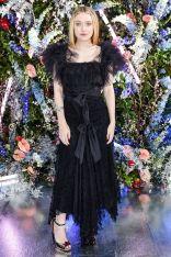 Dakota Fanning in Rodarte al Rodarte AW 2019 show, Los Angeles.