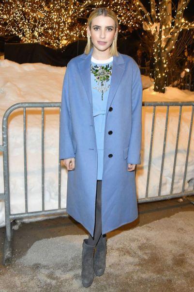 Emma Roberts in Prada alla Paradise Hills premiere al Sundance Film Festival