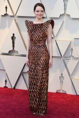 Emma Stone in Louis Vuitton agli Oscars 2019,LA