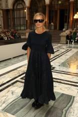 Laura Bailey al Molly Goddard Fashion Show, London